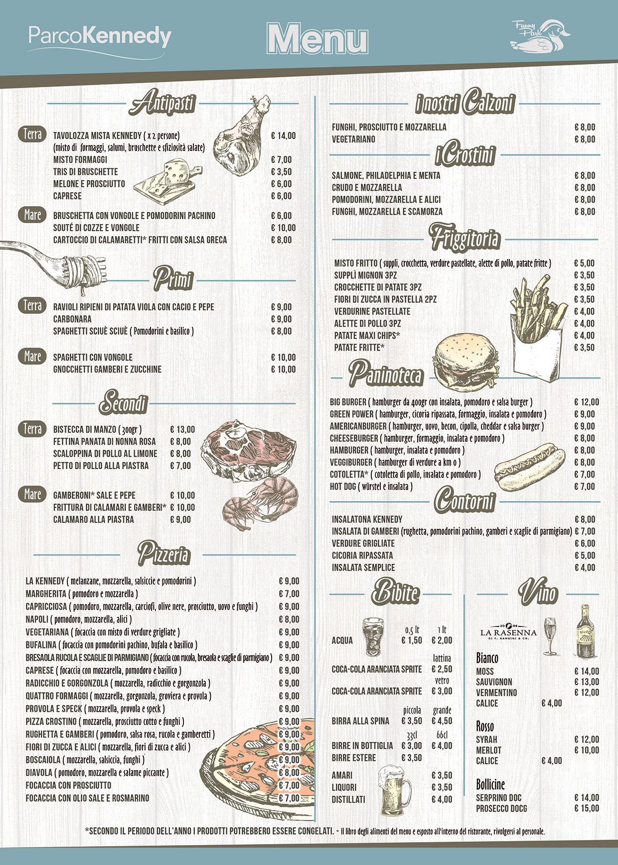fronte menu